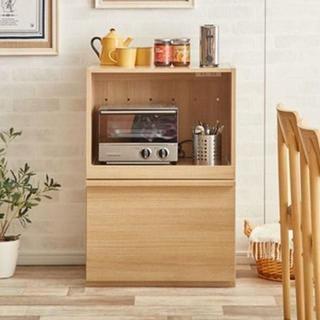 Fig(フィグ)シリーズ食器棚☆オープン引出(キッチン収納)