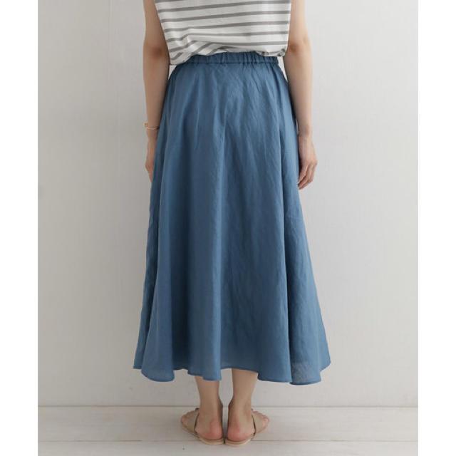 DOORS / URBAN RESEARCH(ドアーズ)の【新品未使用】アーバンリサーチドアーズDOORS リネンギャザーフレアスカート レディースのスカート(ロングスカート)の商品写真