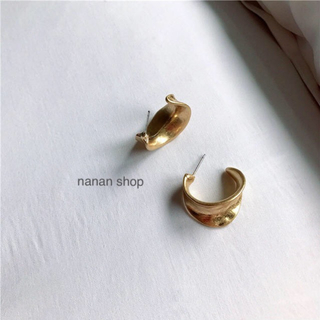 Plage - フープピアス gold マットメタルゴールド