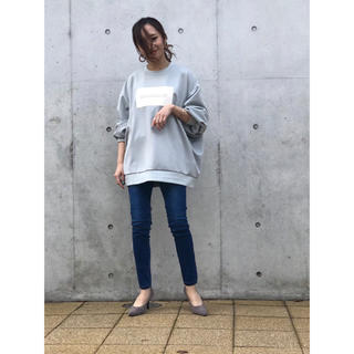 DOUBLE STANDARD CLOTHING - 新品未使用 バックワッペン ライトグレー