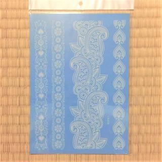 【まとめ買いでお得!】21cm 白ヘナシリーズ LS-628 タトゥーシール(型紙/パターン)