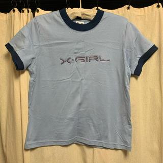 X-girl - X-girl ロゴ ラメ Tシャツ