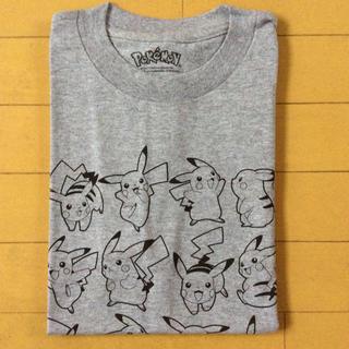 ポケモン - 未使用ピカチュウTシャツ ポケモン グレー キッズLサイズ