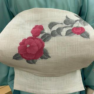 ◆着物ライフ満喫◆盛夏用 麻の紗織り 八寸なごや帯