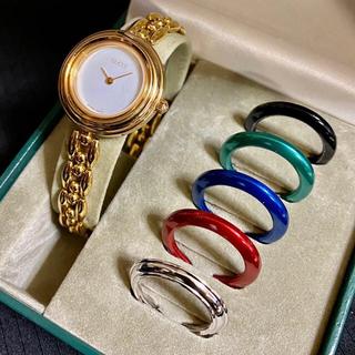 Gucci - GUCCI チェンジベゼル レディース腕時計 クォーツ