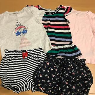 ベビーギャップ(babyGAP)のbaby GAP Tシャ 3枚ショートパンツ 2枚セット18m〜24m 90cm(Tシャツ/カットソー)