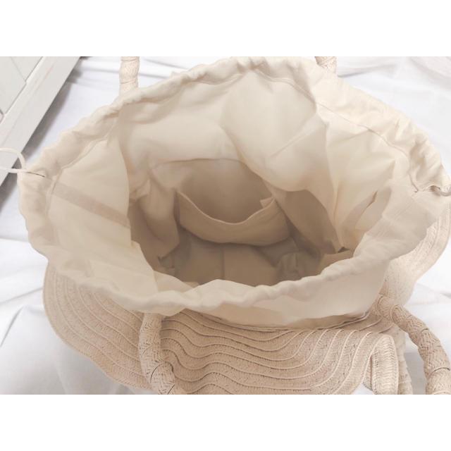 インポート♡フリル🌼かごバッグ🧺 レディースのバッグ(ハンドバッグ)の商品写真