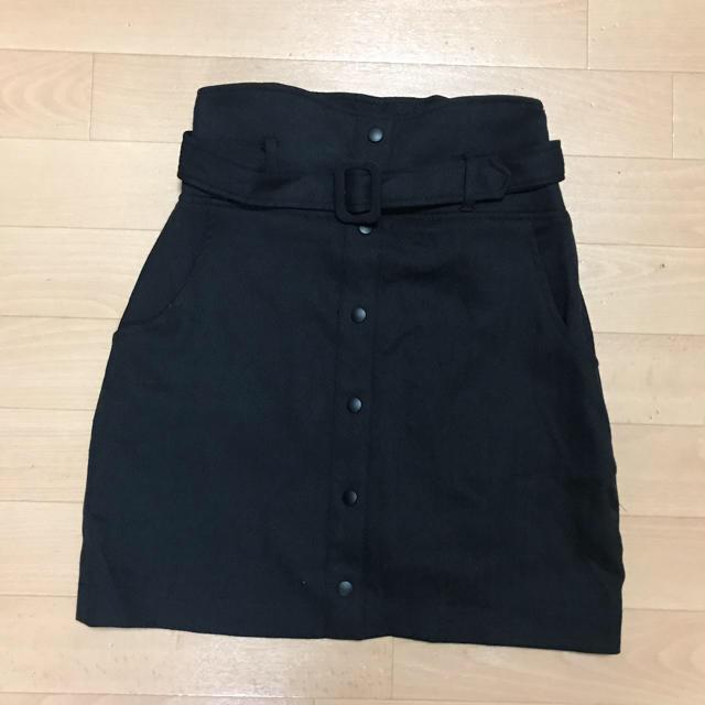 EMODA(エモダ)の新品タグ付き EMODA フロントボタン スカート  キュロット ブラック レディースのスカート(ミニスカート)の商品写真