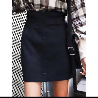 EMODA - 新品タグ付き EMODA フロントボタン スカート  キュロット ブラック