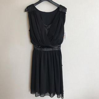 【新品未使用】シフォン ワンピース ドレス(ミディアムドレス)