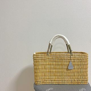 mina perhonen - #04 WARANGWAYAN(ワランワヤン) ホワイトバスケット  四角 浅型