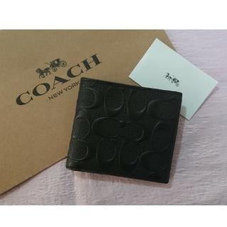 COACH - お買い得❗コーチ折り財布  ブラック  少しだけ訳あり