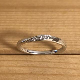 4℃ - 4℃ ダイヤモンド 指輪 レディース リング 10号 K10WG