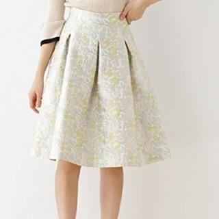 CoutureBrooch フラワージャガードスカート