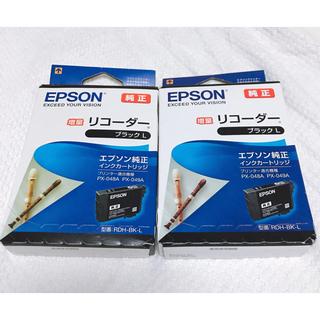 エプソン(EPSON)のエプソン 純正 インクカートリッジ リコーダー RDH-BK-L ブラック 増量(PC周辺機器)