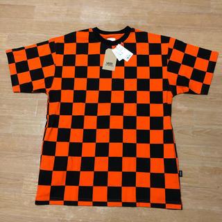VANS - 未使用品 VANS バンズ チェッカー Tシャツ オレンジ ブラック