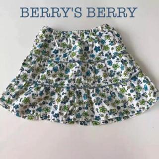 ベリーズベリー(BERRY'S BERRY)のベリーズベリー スカート  90  ガーゼ  ミニスカート 女の子 (スカート)