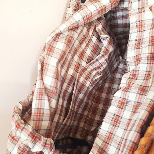 Vivienne Westwood(ヴィヴィアンウエストウッド)のヴィヴィアンウエストウッドギンガムアント型押しバッグアリさん柄牛革チェック レディースのバッグ(ハンドバッグ)の商品写真