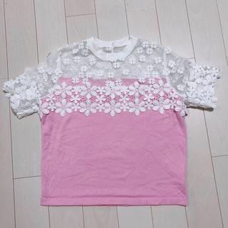 チェスティ(Chesty)のChesty フラワーレース ニット(Tシャツ(半袖/袖なし))