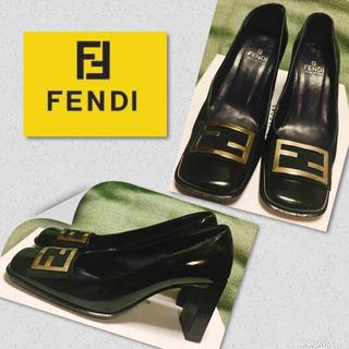 FENDI - 24.0㎝★FENDI フェンディ  ロゴ パンプス★