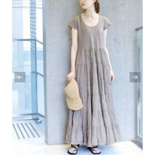 IENA - IENA MARIHA/マリハ 草原の虹のドレス ショートスリーブ
