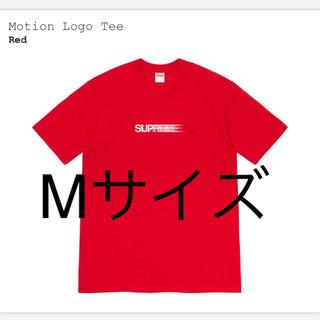 Supreme - supreme Motion logo tee 赤Mモーションシュプリーム