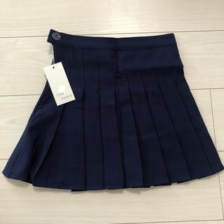 新品 テニススカート プリーツスカート ミニスカート ハイウエスト スカパン 紺