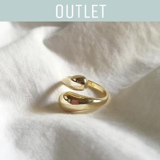 マウジー(moussy)の【※ワケあり※】925 gold drop ring *(リング(指輪))