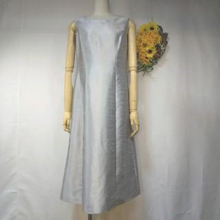 ソワール(SOIR)の新品 11号 高級 東京ソワール シルバーグレー ロングワンピース(礼服/喪服)