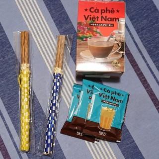 カルディ(KALDI)の新品 3点セット カルディ サイゴン お箸 ベトナムミルクコーヒー(3袋)(弁当用品)