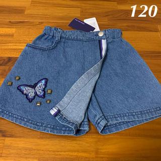アナスイミニ(ANNA SUI mini)の120 アナスイミニ 巻きスカート風デニムショートパンツ(パンツ/スパッツ)