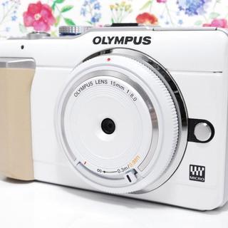 オリンパス(OLYMPUS)の☆スマホ転送☆かわいい☆OLYMPUS☆PEN E-PL1 ホワイト☆(ミラーレス一眼)