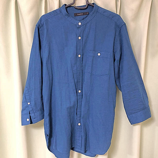RAGEBLUE - RAGE BLUE 七分袖シャツ メンズ Mサイズ  青