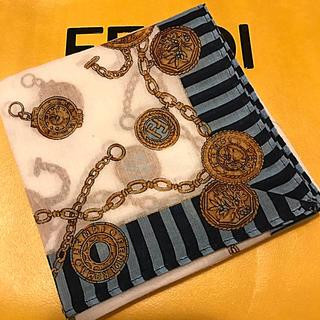 FENDI - 未使用 フェンディ   ハンカチスカーフ     ズッカ チャームがいっぱい‼️
