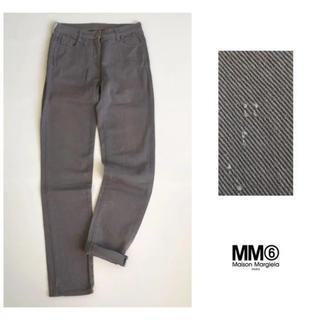 エムエムシックス(MM6)のMM6【洗える】特殊加工 ストレッチ コットン スキニー パンツ イタリア製(カジュアルパンツ)