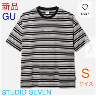 GU - 【新品】GU★STUDIO SEVEN★オーバーサイズT(5部袖) ブラック S