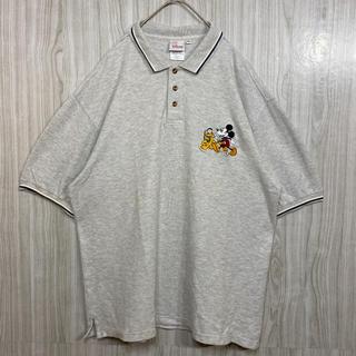 ディズニー(Disney)の90s Disney ディズニー 刺繍 ミッキー プルート ビッグシルエット(ポロシャツ)