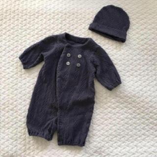 コドモビームス(こどもビームス)の韓国こども服ケーブルスウェットロンパース帽子つき(ロンパース)