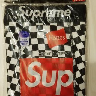 Supreme - Supreme×Hanesチェッカーパンツ一枚