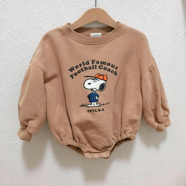 こどもビームス(コドモビームス)の韓国こども服 SNOOPY古着スウェットロンパース キッズ/ベビー/マタニティのベビー服(~85cm)(ロンパース)の商品写真