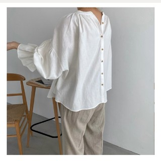 TODAYFUL - 【willfully】both sides linen crew neck BL