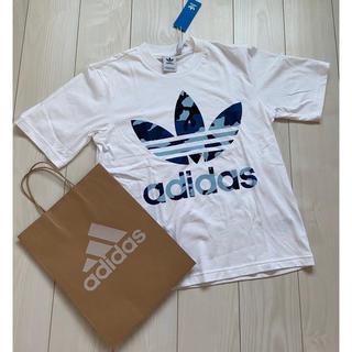 adidas - 新品 アディダス メンズ Tシャツ オリジナルス ホワイト 白 カモフラ 迷彩