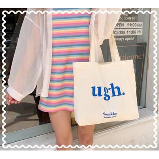 【最安値】キャンバスバッグ  トートバッグ  韓国ファッション(トートバッグ)