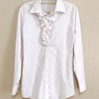 アオキ(AOKI)のフリル付き ワイシャツ AOKI  LES MUES(シャツ/ブラウス(長袖/七分))