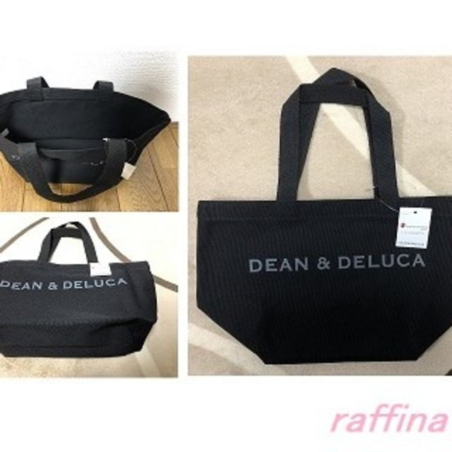 DEAN & DELUCA(ディーンアンドデルーカ)の【DEAN&DELUCA】トートバック★ディーン&デルーカ★ブラックS レディースのバッグ(トートバッグ)の商品写真