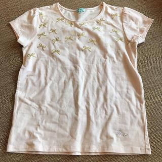 トッカ(TOCCA)のTOCCA 140 女の子 リボン柄Tシャツ(Tシャツ/カットソー)