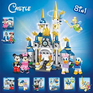 Lego - 値下げ【24時間以内発送】ミッキー 城 8体セット ミニフィグ レゴ互換