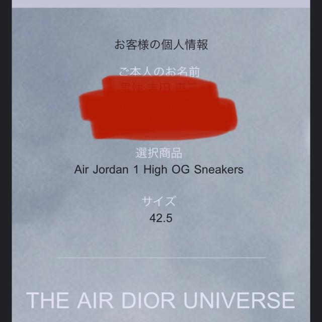 Dior(ディオール)のDior x Nike Air Jordan 1 High OG メンズの靴/シューズ(スニーカー)の商品写真