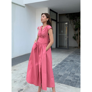 ZARA - birthdaybash HTクロスリボンドレス ロングドレス バースデー