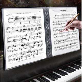 60P 楽譜ノート 楽譜用ファイル 楽譜ファイル A4ファイル クリアファイル